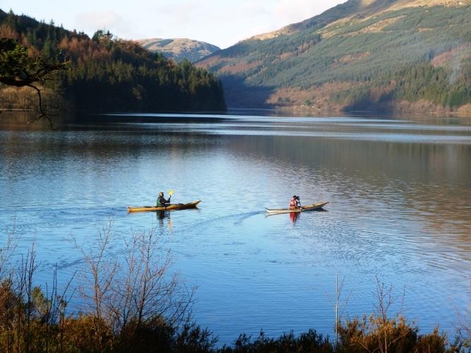 Kayaking, Loch Eck
