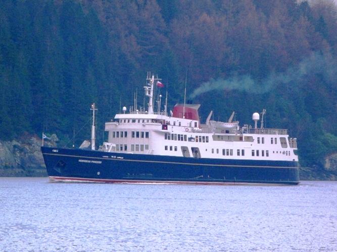 Cruise Ship on Loch Goil
